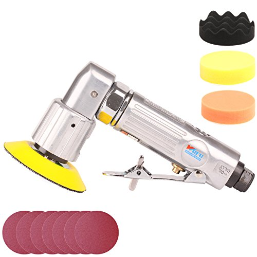 ZFE 11Pcs 3inch New Random Air Palm Sander Car polisher Sets For Car Polishing And Do Waxing