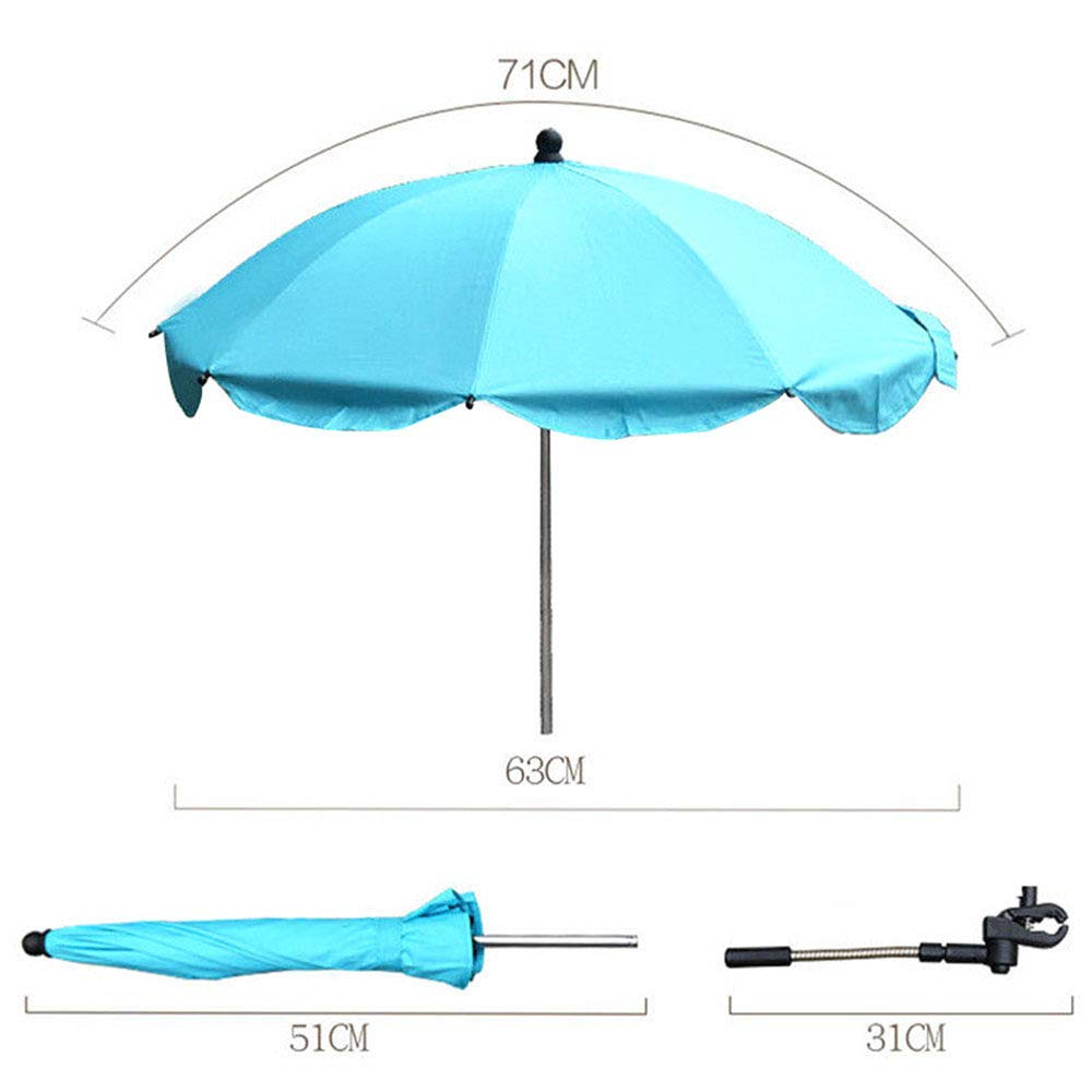 Parasol Umbrella for Baby, Sunshade and Sleep Aid for Pushchairs, Universal Fit and Blocks Up to of UV, Multi-Color Optional,Blue by ACOMG (Image #6)