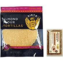 Siete Almond Flour Tortillas, Paleo & Vegan, 8 count, & Pure Traditions Gluten & Grain-Free Hot Cereal (Unsweetened)