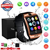 Smart Watch,Bluetooth Smartwatch Touch Screen Wrist Watch with Camera/SIM Card Slot,Waterproof Phone Smart Watch Sports Fitness Tracker for Android iPhone IOS Samsung Huawei Sony for Kids Women Men