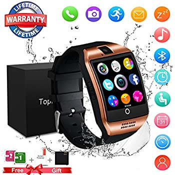 Smart Watch Bluetooth Touchscreen Smart Watches with Camera Smartwatch Water Resistant Sports Fitness Tracker Support iOS iPhone Android Samsung LG for Men ...