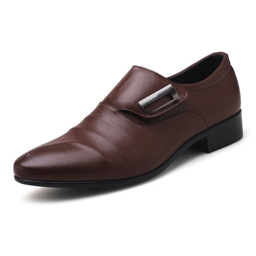 SCSY-Oxford-Schuhe Einfache Männer Business Schuhe Matte PU-Leder oberen Slip-on Slip-on Slip-on ausgekleidet Oxfords Blockabsatz  aaddbf