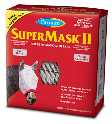 Central Garden & Pet 100526861 SuperMask II Horse Fly Mask, with Ears - Quantity 12