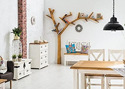 Scaffalatura treea libreria da parete in legno a forma di albero