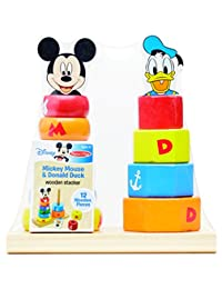 Melissa & Doug Disney Baby Mickey Mouse and Donald Duck Wooden Stacker Toy (12 pcs) BOBEBE Online Baby Store From New York to Miami and Los Angeles