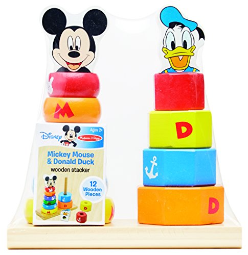 Mickey Mouse 123 - Melissa & Doug Disney Baby Mickey Mouse and Donald Duck Wooden Stacker Toy (12 pcs)