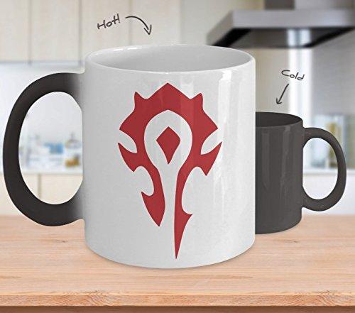 World Of Warcraft Horde Mug - Horde Alliance Coffee Mug (Heat Changing) -11oz World Of Warcraft Mug - Horde World Of Warcraft Alliance Coffee Mug Cup - World Of Warcraft Gift - World Of Warcraft Cup