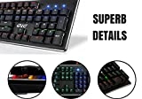Gaming Mechanical Keyboard, 104 non-conflicting/anti-ghosting Keys, Water-Resistant Keyboard, Multicolor Backlit, Many Backlight Settings and Game Modes