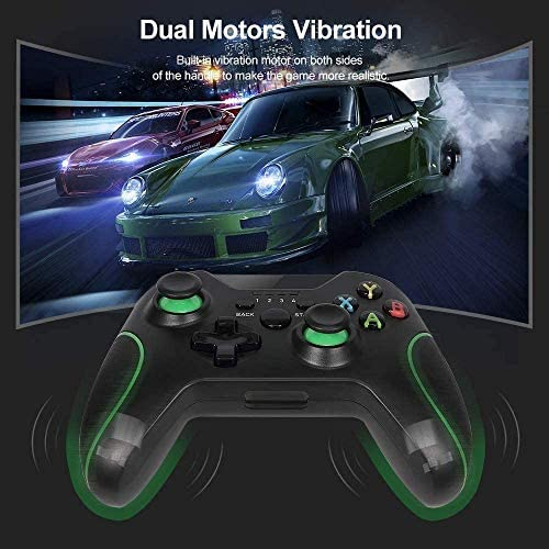 Wireless Controller for Xbox One, 2.4GHZ Remote Game Controllers Compatible with Xbox One S, One X, One Elite, PS3, PC (Black)