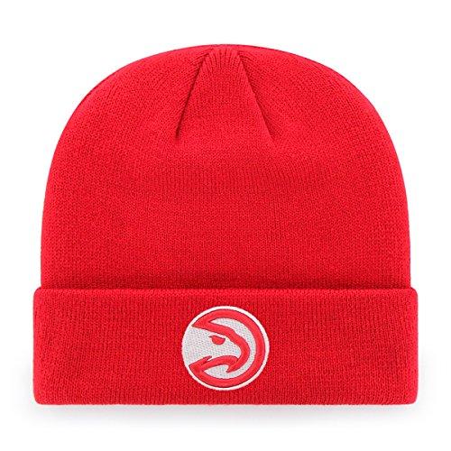 NBA Men's Atlanta Hawks OTS Raised Cuff Knit Cap, One Size, Team Color (Atlanta Hawks Fitted Cap)