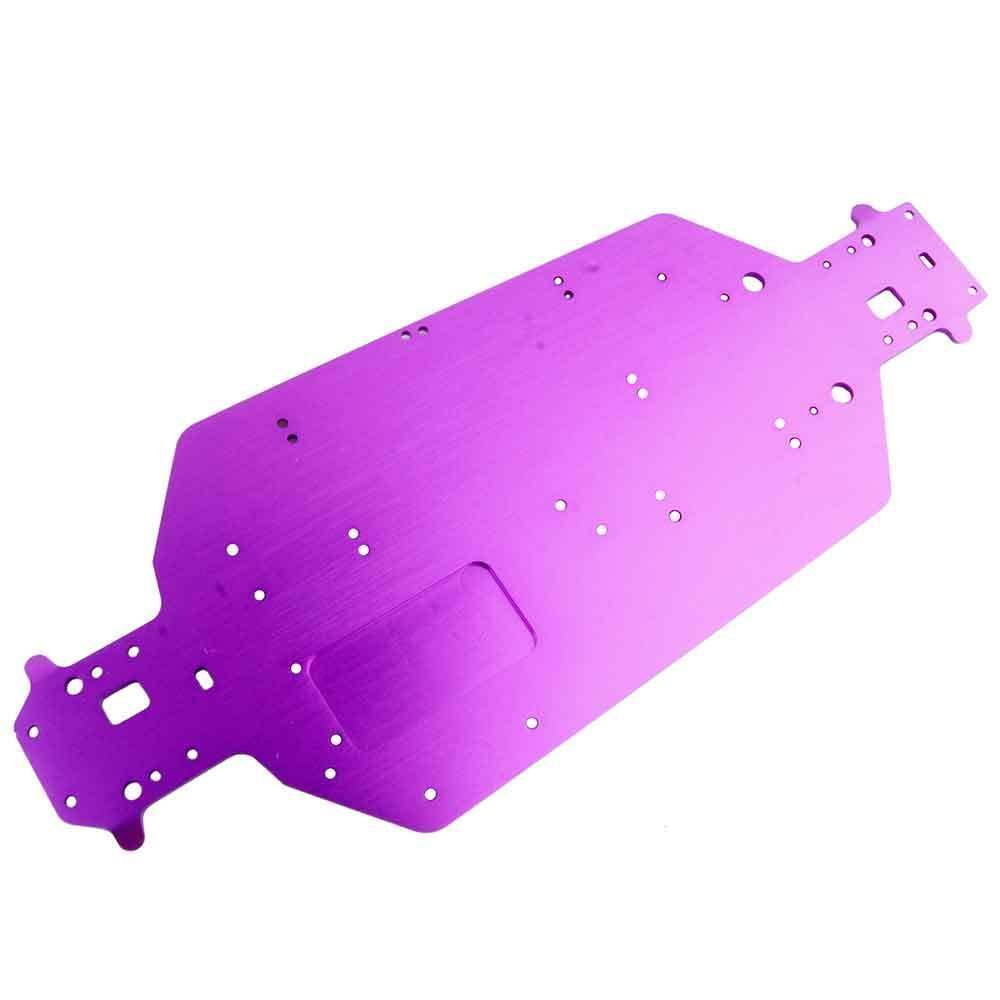 Toyoutdoorparts RC 04001 Purple Aluminum Chassis For HSP 1/10 Electric Off-Road Buggy Truck