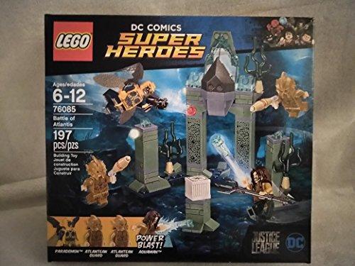 Lego DC Comics Super Heroes Justice League Battle Of Atlantis Includes Power Blast Aquaman, Parademon, Two Atlantean Guards Ages 6-12 197PCS 76085 New In Unopened (Power Battle Box)
