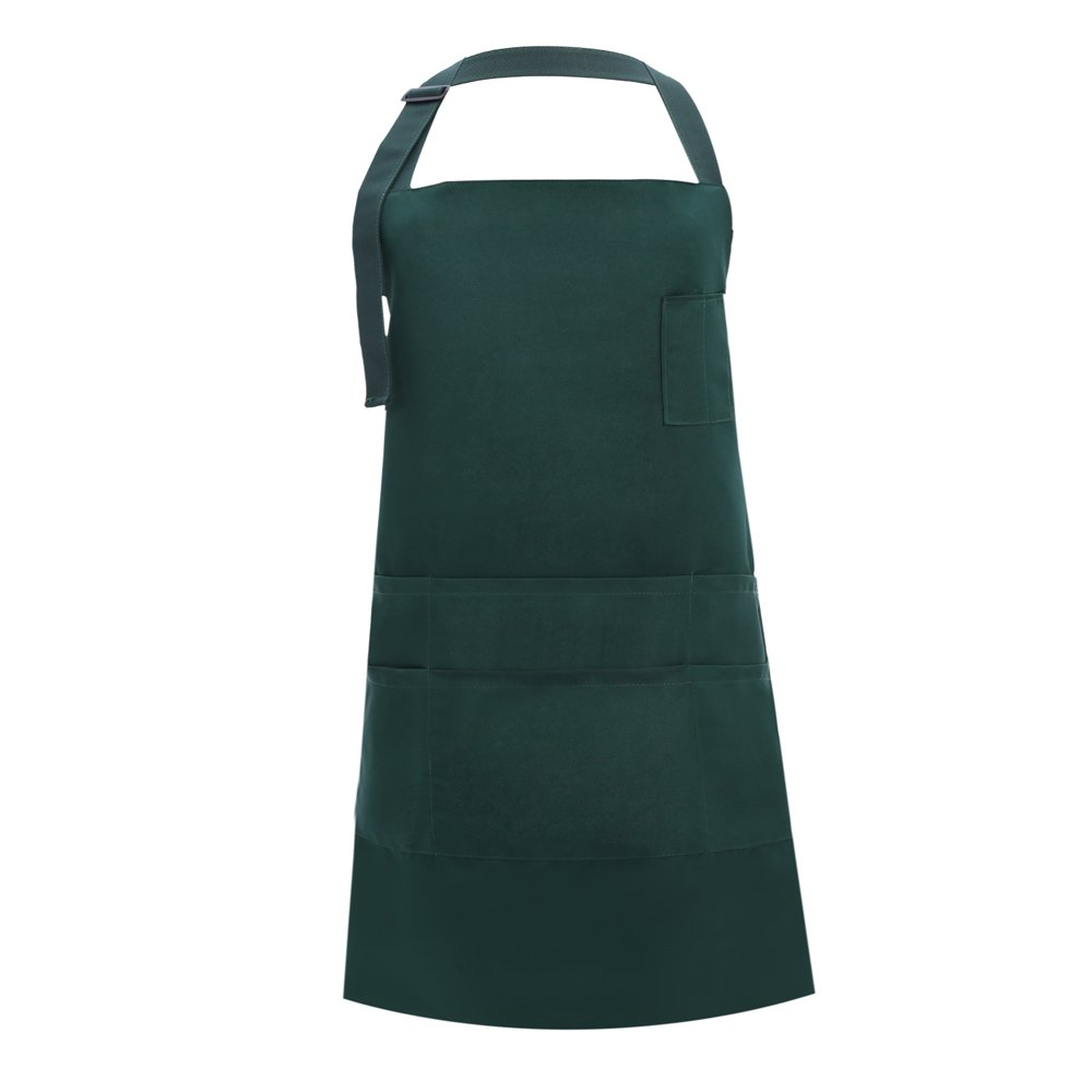 MissOwl Adjustable Plus Size Work Apron Waterproof with 7 Pockets Women Men Brown DOMINEERING