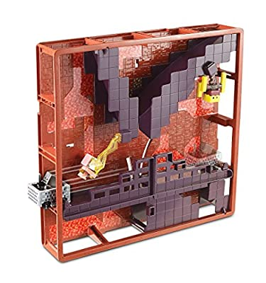 Hot Wheels Minecraft Track Blocks Nether Fortress Play Set from Mattel