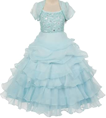 d1364ab8e32 Amazon.com  Little Girls Organza Pick Up Skirt Pageant Flowers Girls ...