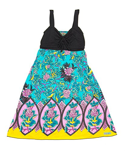 Rainbow Jo Women's Hawaiian Lycra Front Tie Dress (M, Hamakua Dawn) ()