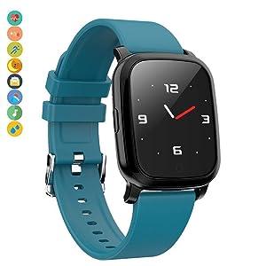 BYBYC Reloj inteligente, pulsera inteligente Monitoreo de la frecuencia cardíaca en Espera 30 días Android 4.4, Ios9.0, Ip67 a prueba de agua