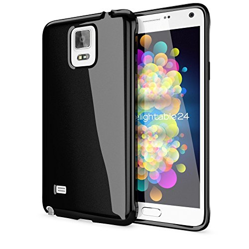 Price comparison product image Delightable24 Premium Protective Case TPU Silicone Jelly SAMSUNG GALAXY NOTE 4 Smartphone - Black