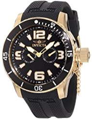 Invicta Mens 1792 Specialty 18k Gold Ion-Plated Watch