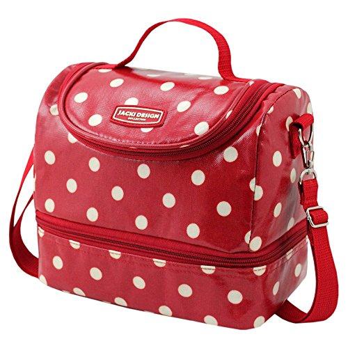 jacki-design-polka-dot-2-compartment-lunch-bag