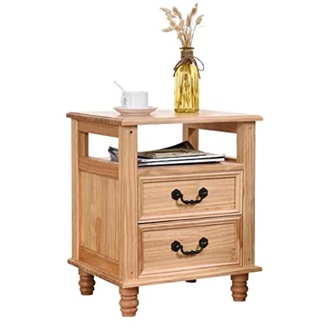 Amazon.com: Bedside Table Nightstand Solid Wood Bedroom ...