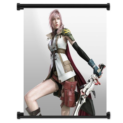 Final Fantasy XIII 13 Game Lightning Fabric Wall Scroll Post