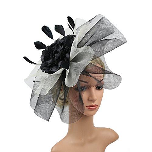 Merya Dress Kentucky Derby Fascinators Mesh Cocktail Headwear Feather DotVeil