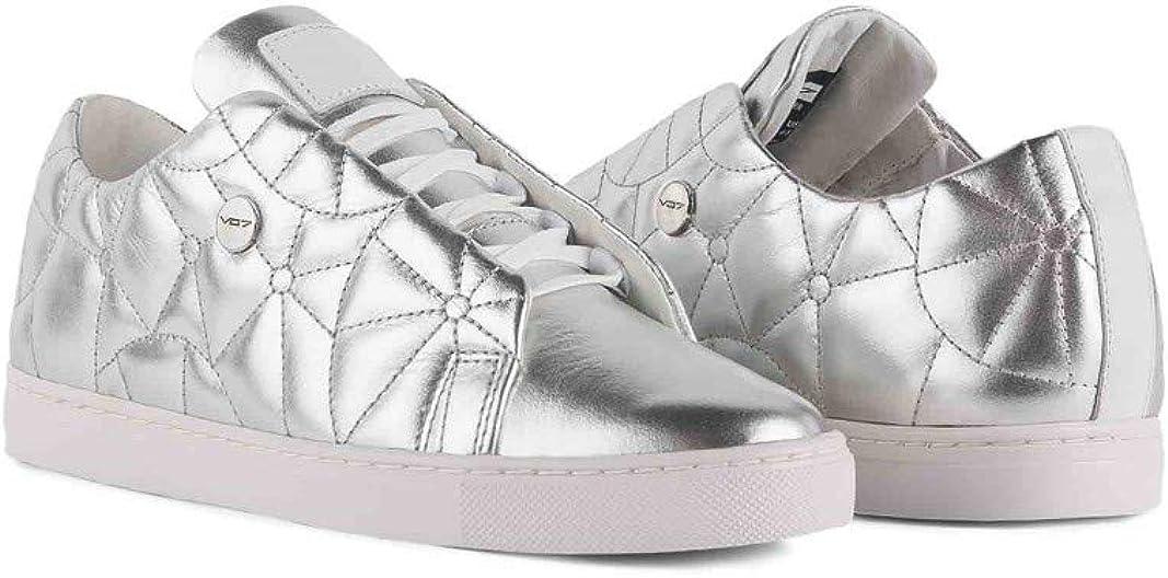vo7 Baskets Cuir Enduit Baskets Cristal Silver Argent