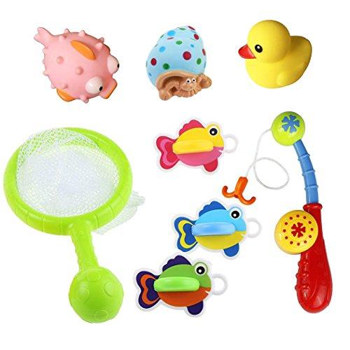 Bad Angeln Spielzeug mit schwimmenden Fisch Badespaß Zeit Großes Geschenk für 18 Monaten und Bis