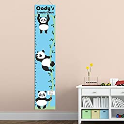 Personalized Growth - Height Chart - Personalized Panda Growth Chart for Boys