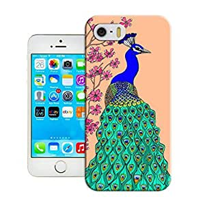 LarryToliver Charming Simple Customizable Peacock and Phoenix iphone 5/5s Case Cover