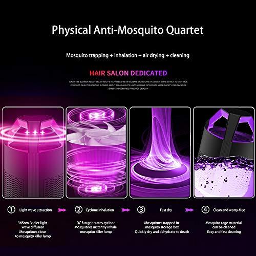 Lampara Antimosquitos Usb 5W Con Ultravioleta Insectos Trampa 5V Atrapa Mosquitos Que Atrae A Los Mosquitos,Silencioso Y Funcional,No TóXicos,Sin RadiacióN,Negro