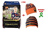 Fc Barcelona Gym Sack Bag Drawstring Backpack Cinch Bag Authentic Official Messi 10 (Maroon)