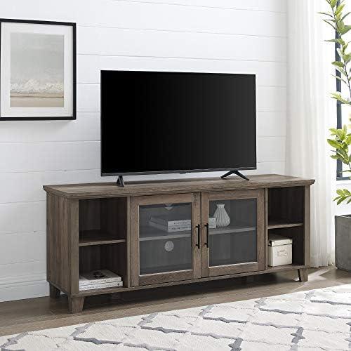 Walker Edison Oxford Modern Double Glass Door TV Console