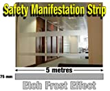 Etch Effect Safety Stickers / Strip Decals for Safety Manifestation 5 metres x 75mm for Office, Work & Home, Manifestation, Demarcation safety Film