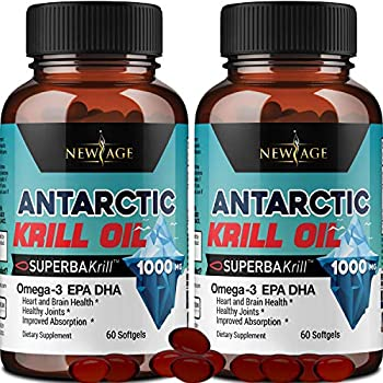 2-Pack New Age Pure Antarctic Krill Oil
