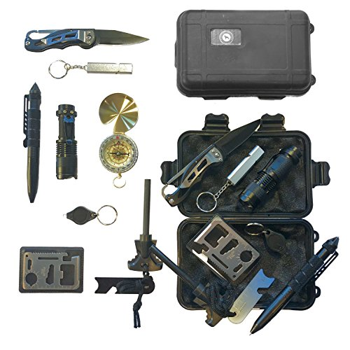 Emergency-Survival-Kit-Emergency-Car-Kit-Camping-Knife-Compass-Flint-Fire-Starter-SOS-Hazard-Safety-Outdoor-Tools-Great-for-Climbing-Hiking-Biking-Driving-Fishing-Boating-Geocaching