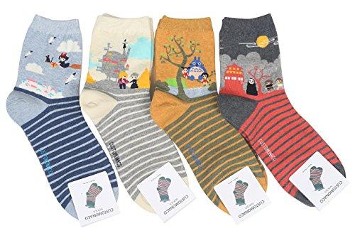 Customonaco-Women-Miyazaki-Hayao-Cartoon-Socks