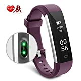 Motenik Fitness Tracker, Slim Activity Tracker with Heart Rate Monitor Waterproof Fitness Wristband Touch Screen Fitness Watch Bluetooth Pedometer Sleep Monitor for Kids Women and Men Compatible with Android&iOS
