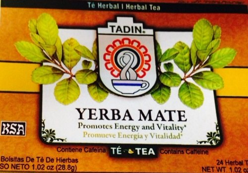 Yerba Mate Tadin 24 tea Bags in a box