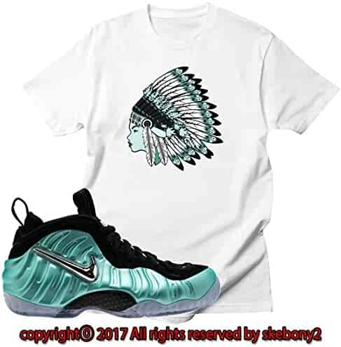 d951f760241 Custom T Shirt Matching AIR Foamposite Pro Island Green FOAM-1-1-11
