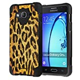 Galaxy On5 Case, Capsule-Case Hybrid Fusion Dual Layer Shockproof Combat Kickstand Case (Black) for Samsung Galaxy On5 SM-G550 - (Leopard)