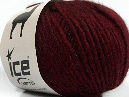 (Peru Alpaca Bulky - Burgundy Merino Wool Alpaca Acrylic Blend Yarn 50gr)