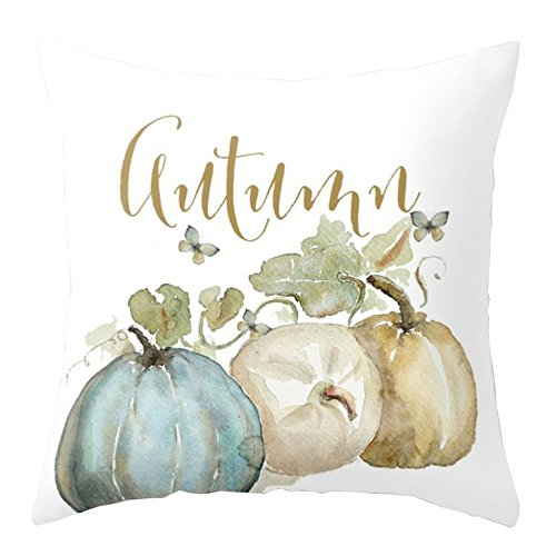 Thanksgiving Halloween Decorations Square Cover Decor Pillow Case Sofa Waist Throw Cushion Cover by GREFER (Multicolor -B) -