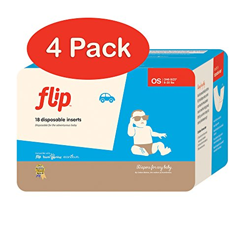 Flip Disposable Inserts - Includes 18 Inserts - Pack of 4