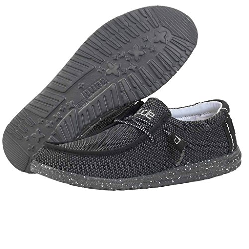 Zapatos Wally Negro Black Dude para Negro Modelo para Color 110354900 Tech Zapatos Hombre Hey Marca Hey Hombre Dude rt6rwqf