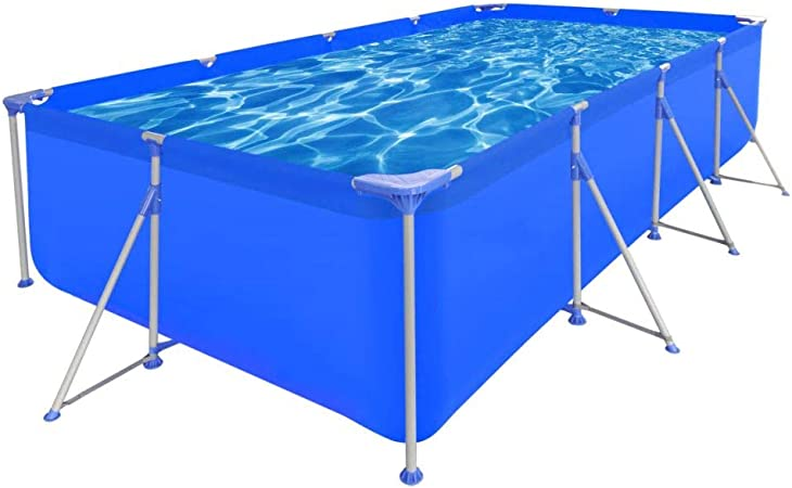 vidaXL Piscina Rectangular Desmontable 394x207x80 cm Jardín Patio ...