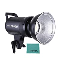 Godox SL-60W 5600K 60W 大電力 LED ビデオライト ワイヤレスリモコン Bowens マウント付き フォトスタジオ 写真 ビデオ 録画 ホワイトバージョン用の商品画像