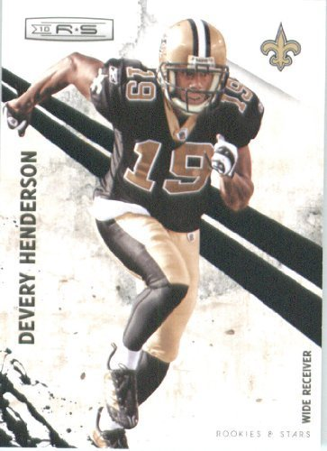 2010 Panini Rookies and Stars Football Cards #90 Devery Henderson - New Orleans Saints - NFL Trading Card ()