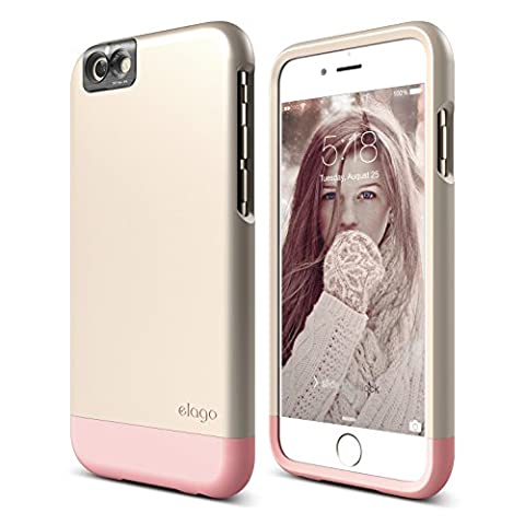iPhone 6S Case, elago [Glide Cam][Champagne Gold / Lovely Pink] - [Mix and Match][Premium Armor][True Fit] – for iPhone 6S (Phone Covers For Iphone 6 Elago)